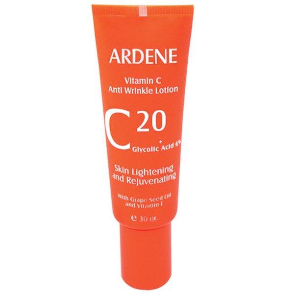 تصویر لوسیون ضد چروک آردن مدل Vitamine C  مقدار 30 گرم Ardene Vitamin C 20 Anti Wrinkle Lotion 30 gr